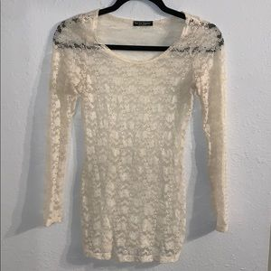See You Monday - Tight Lace Off Cream Long Sleeve